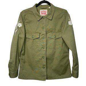 Levi's Army Green Shirt Jacket Size M Medium